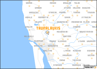 map of Tauralaukis