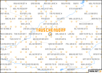 map of Tauschendorf