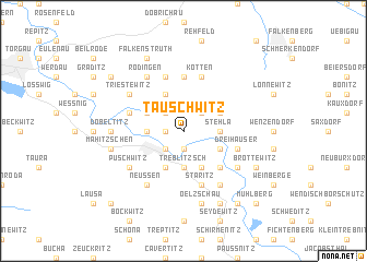 map of Tauschwitz