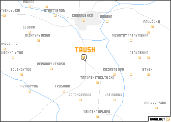 map of Taush