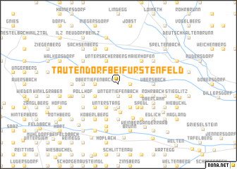 map of Tautendorf bei Fürstenfeld