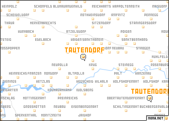 map of Tautendorf