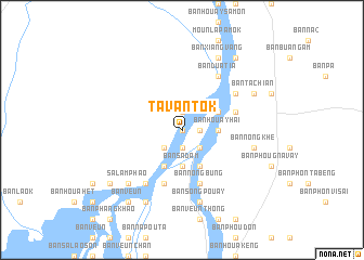 map of Tavantôk