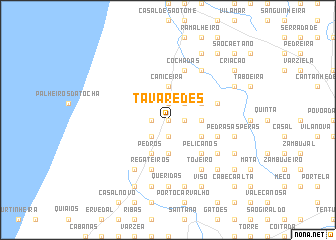 map of Tavaredes