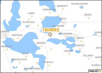 map of Tavares
