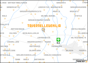 map of Tavernelle d'Emilia