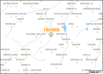 map of Taviano