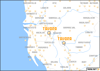map of Tavora