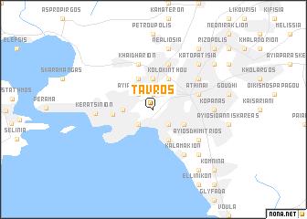 map of Távros