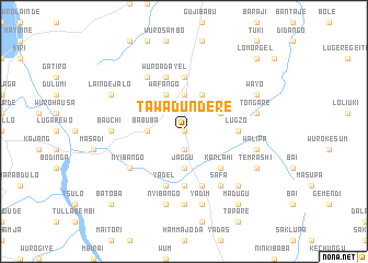 map of Tawa Dundere