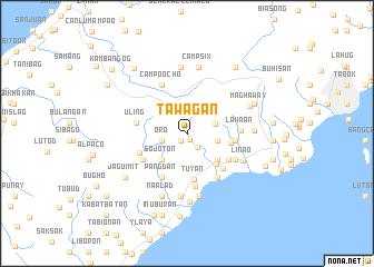 map of Tawagan