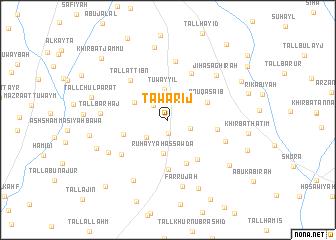 map of Ţawārīj
