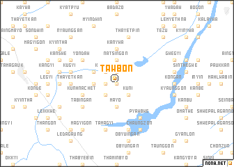 map of Tawbon