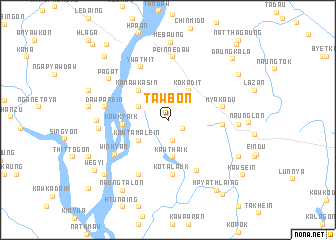 map of Tawbon