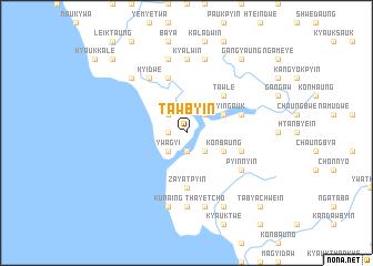 map of Tawbyin