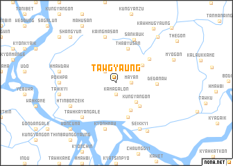 map of Tawgyaung