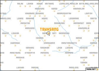 map of Tawhsàng
