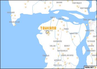 map of Tawkana