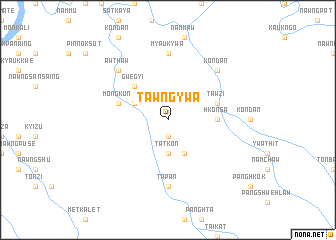 map of Tawng-ywa