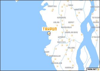 map of Tawpun