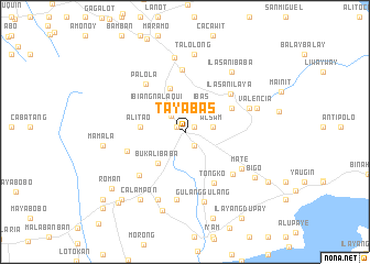 map of Tayabas