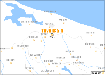 map of Tayakadın