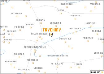 map of Taychiny