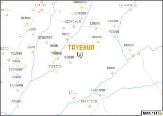 map of Tayehun