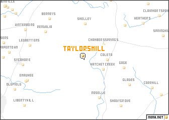 map of Taylors Mill