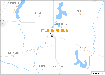 map of Taylor Springs