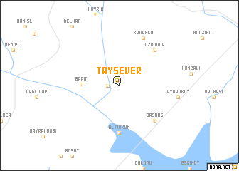 map of Taysever