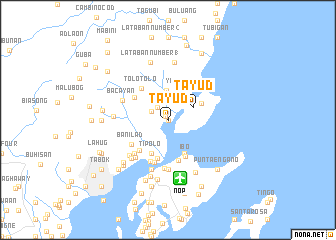 map of Tayud