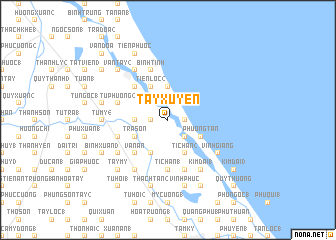 map of Tay Xuyến