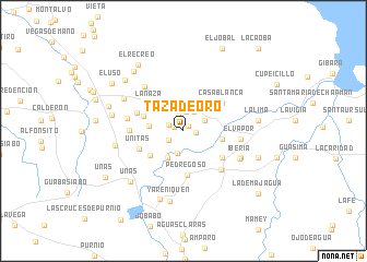 map of Taza de Oro