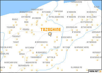 map of Tazaghine