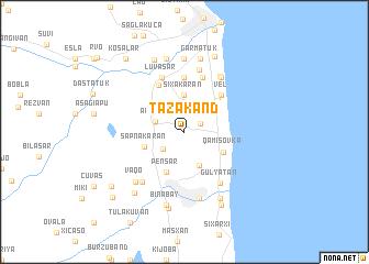 map of Tǝzǝkǝnd