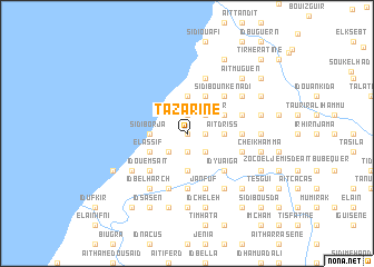 map of Tazarine
