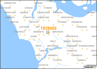 map of Tazaung