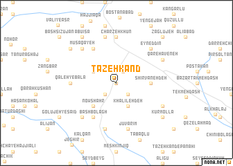 map of Tāzeh Kand