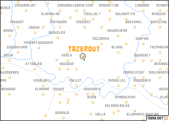 map of Tazerout