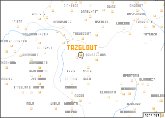 map of Tazglout