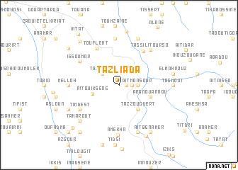map of Tazliada