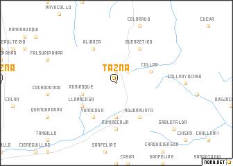 map of Tazna