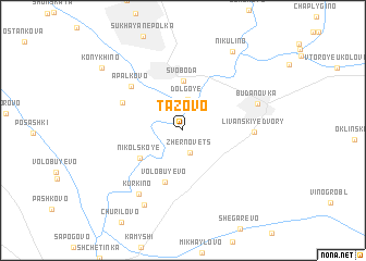 map of Tazovo