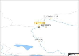 map of Tazovo