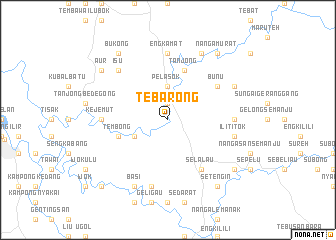 map of Tebarong