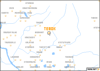 map of Tebok
