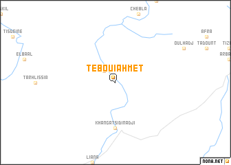 map of Tebouiahmet