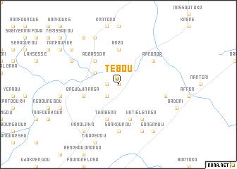 map of Tébou