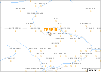 map of Tebrin